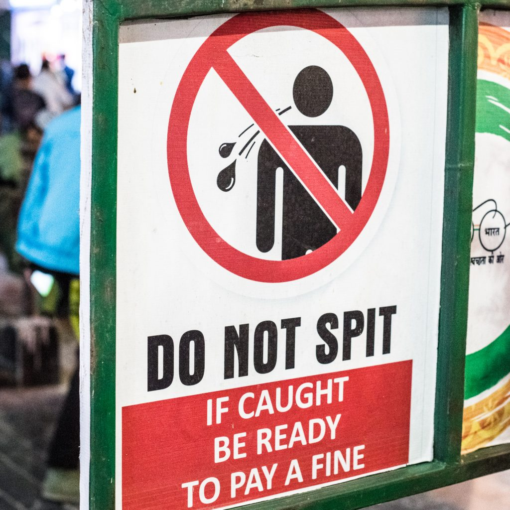 Don't spit in Sikkim